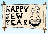 Happy Jew Year 5772 5773 Rosh Hashanah Caricature