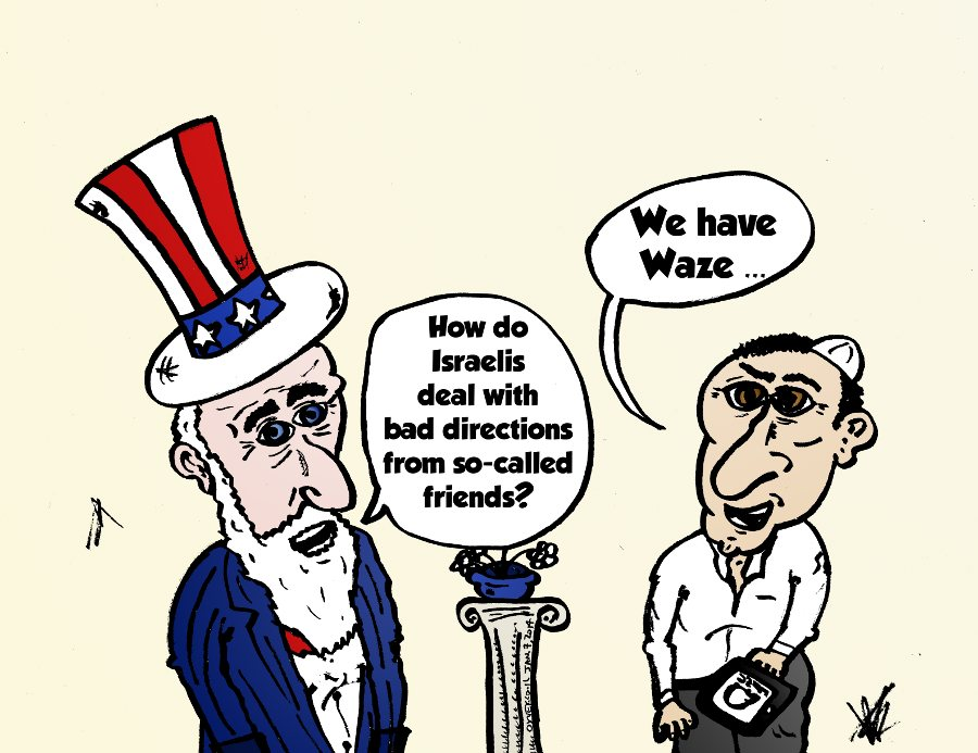 Israeli Waze cartoon