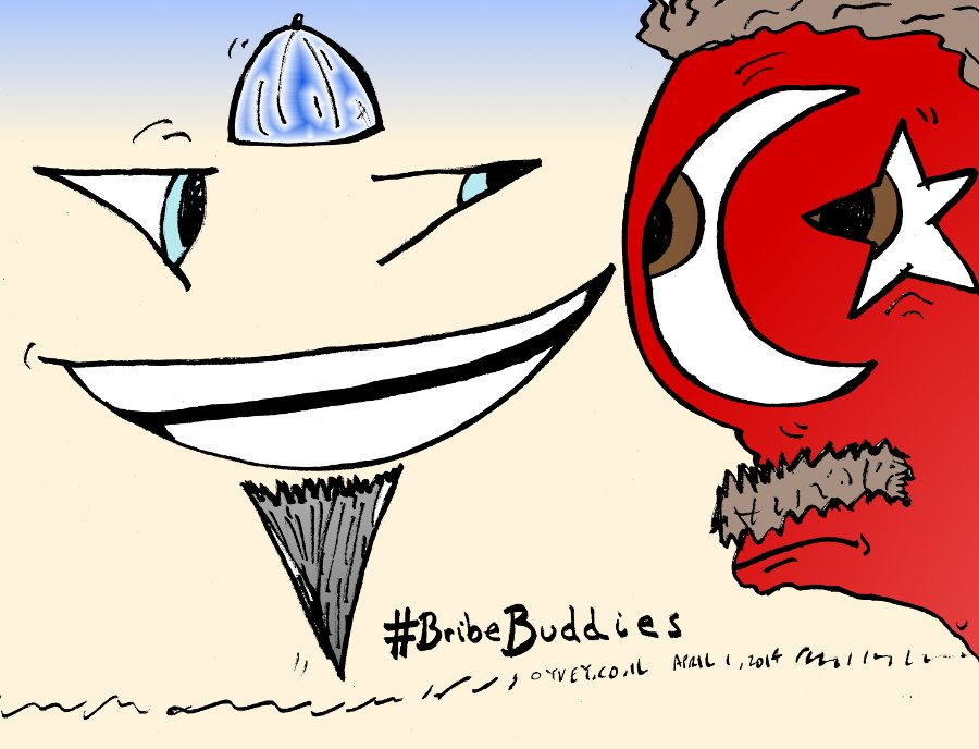 Israeli Turkish Bribe Buddies Cartoon
