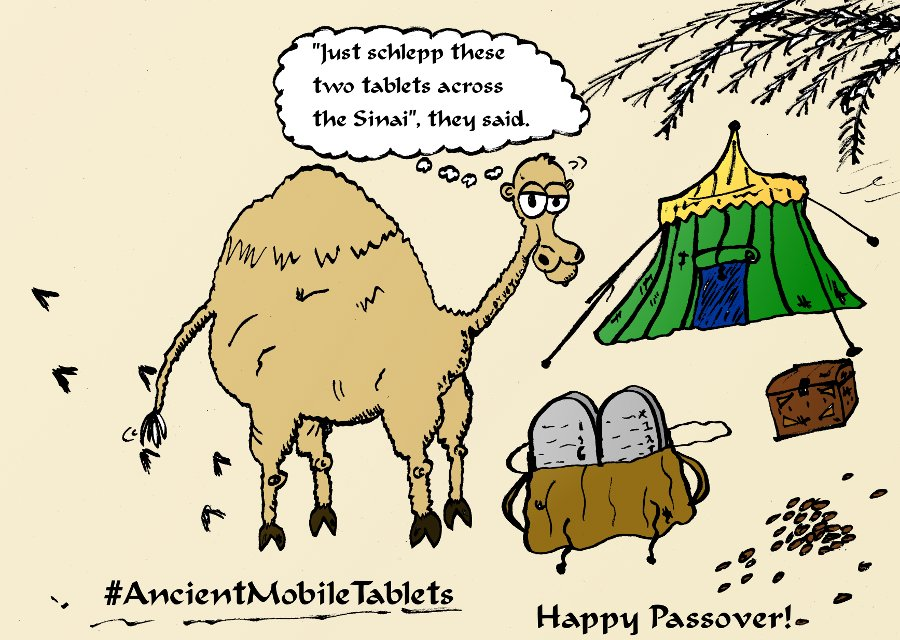 Ancient Mobile Tablets Passover Comic
